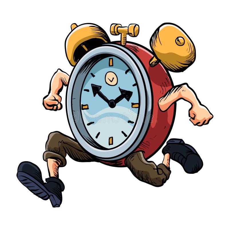 Ход человека часов иллюстрация вектора