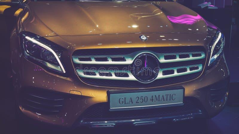 ХО ШИ МИН/ВЬЕТНАМ, 4-ое августа 2017 - автомобили на дисплее на мотор-шоу 2017 Вьетнама стоковое фото