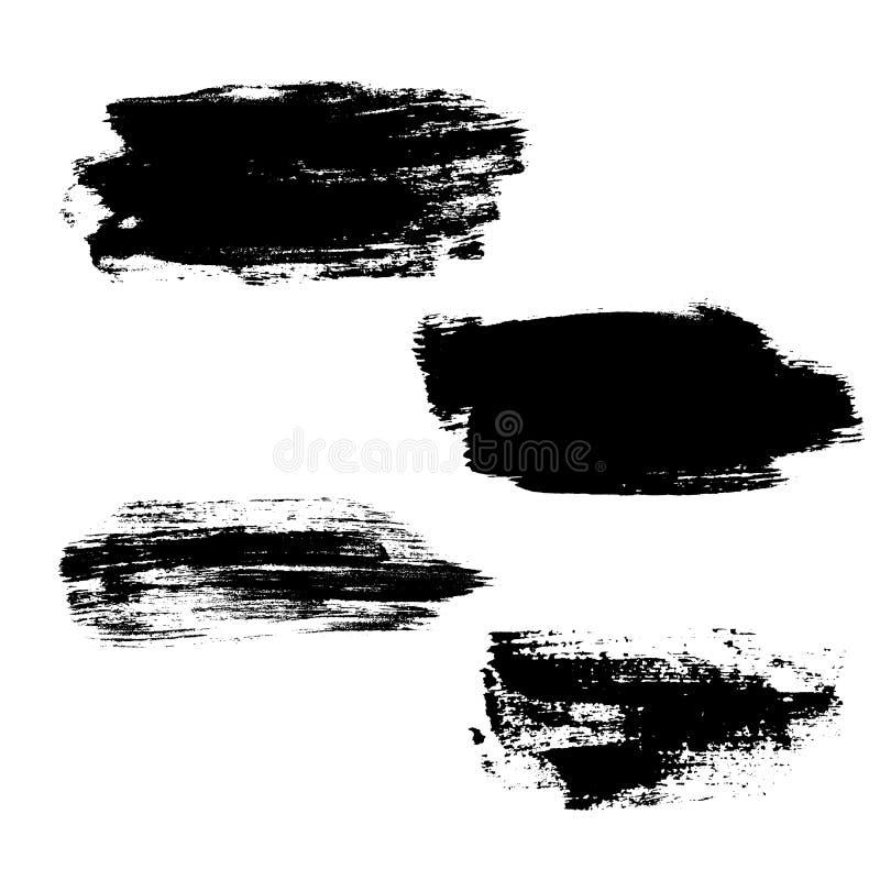 Ход щетки предпосылки Grunge иллюстрация вектора