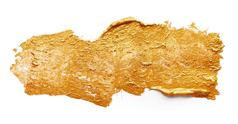 Ходы золотой краски стоковое фото