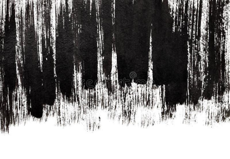 Ходы щетки Grunge черные толстые иллюстрация штока