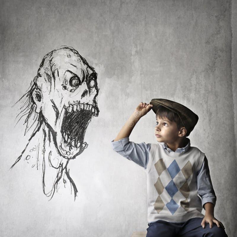 Храбрейший ребенок стоковая фотография rf