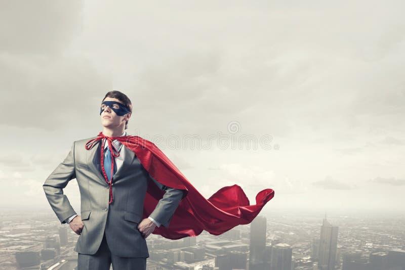 Храбрый супергерой стоковые фото