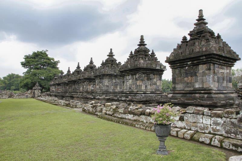 Храмовый комплекс Плаосан, Клатен, Центральная Ява, Индонезия стоковая фотография