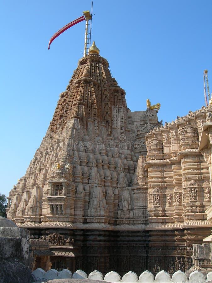 Храмы Джайна на вершине горы Шатрунджая Палитана Бхавнагар, округ Гуджарат, Индия стоковые изображения rf