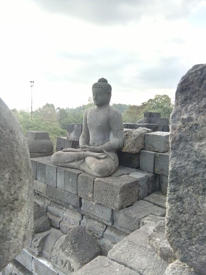 Храм Боробудур в Магеланге, Центральная Ява, Индонезия стоковое изображение rf