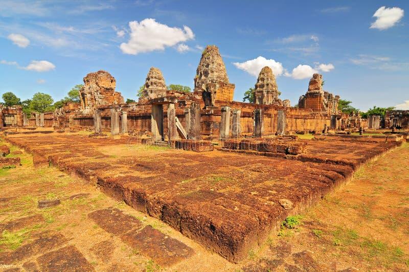 Храм Ист-Мебон в комплексе Ангкор, Сиемреап, Камбоджа стоковые фотографии rf