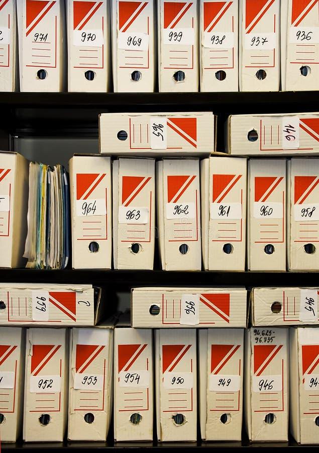 хранение архива стоковое изображение rf