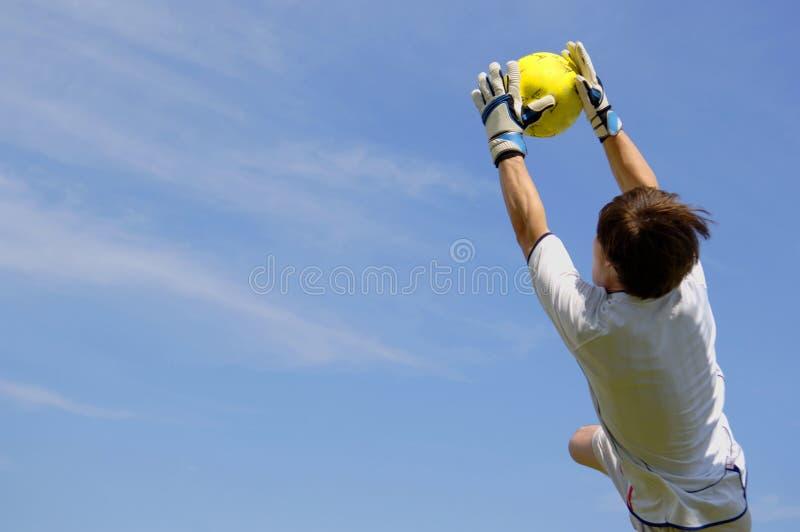 хранитель цели футбола стоковые фотографии rf