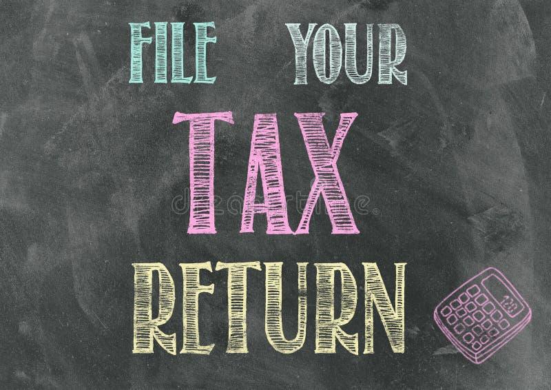 Храните вашу налоговую декларацию иллюстрация штока