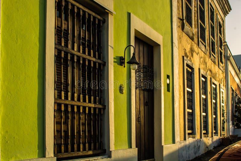 Храните фронты в старом городке, Сан-Хуане, Пуэрто-Рико стоковое фото