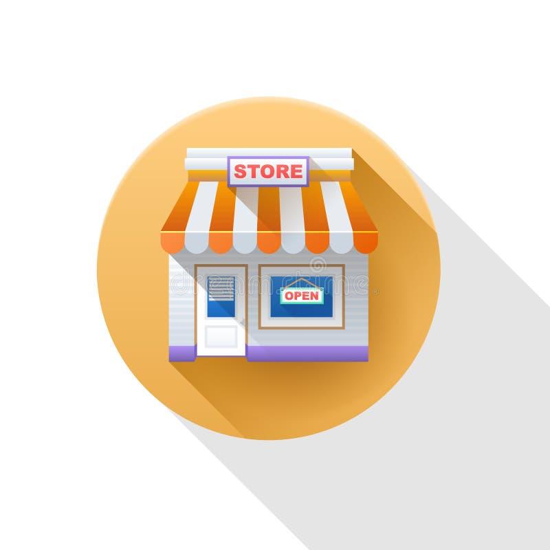 Храньте икона магазин иконы иллюстрация вектора