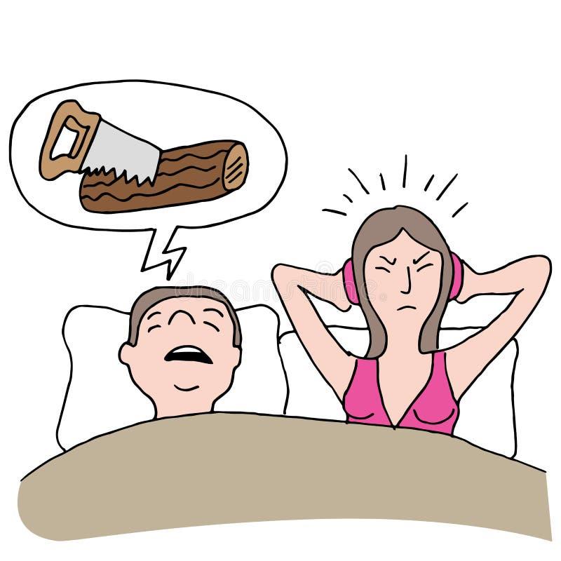 Храпя супруг бесплатная иллюстрация