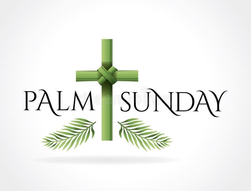 Христианская иллюстрация темы креста воскресенья ладони иллюстрация вектора