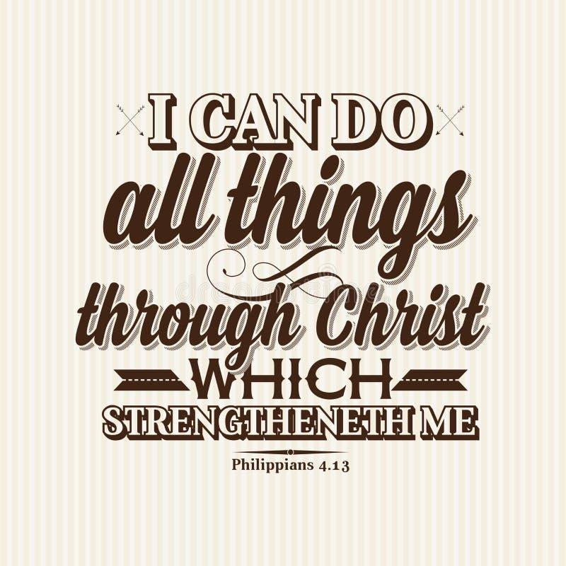 Христианская печать Я могу сделать все вещи до Христос который strengtheneth я бесплатная иллюстрация