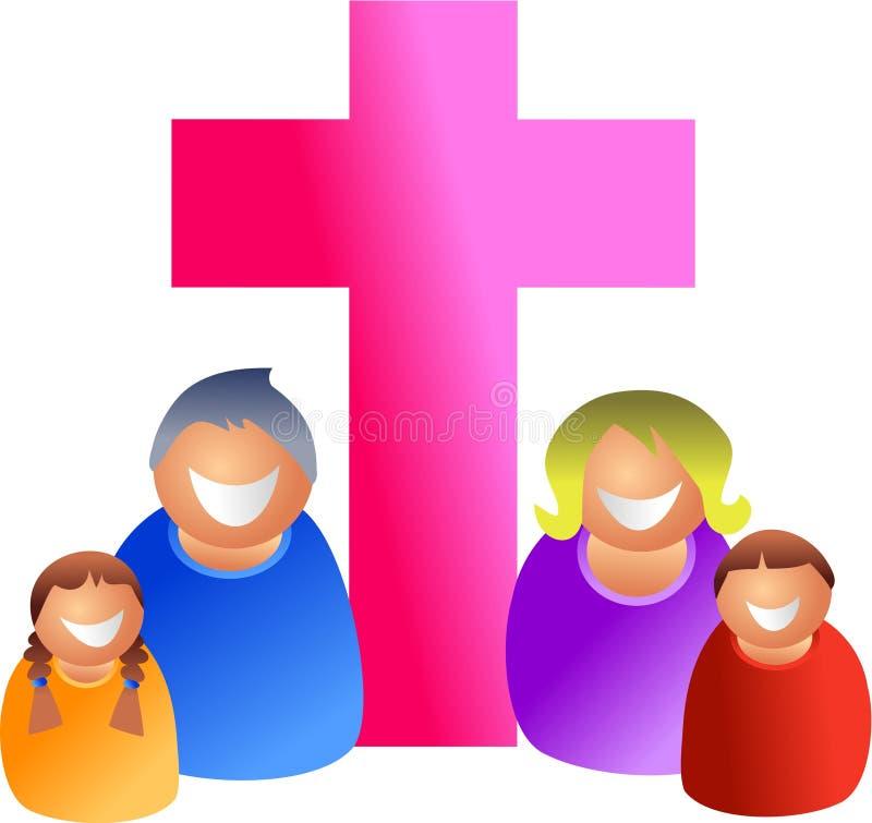 христианская семья иллюстрация вектора