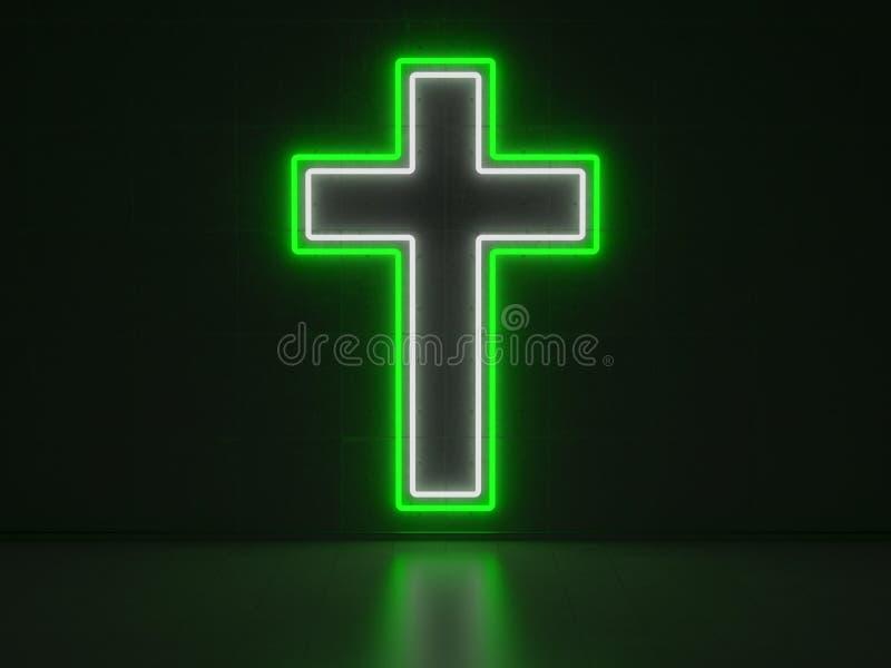 Христианские взаимные неоновые вывески серии бесплатная иллюстрация