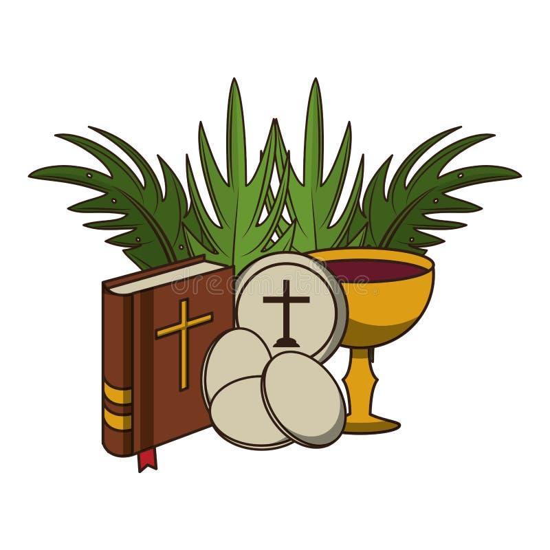 Христианские католические элементы иллюстрация штока