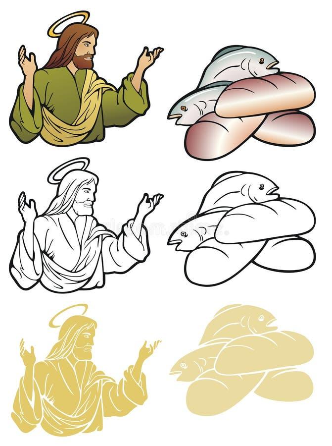 Христианские мотивы, Иисус, чудо бесплатная иллюстрация