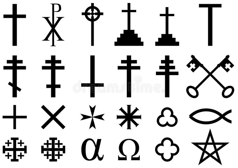 Христианские религиозные символы стоковое фото
