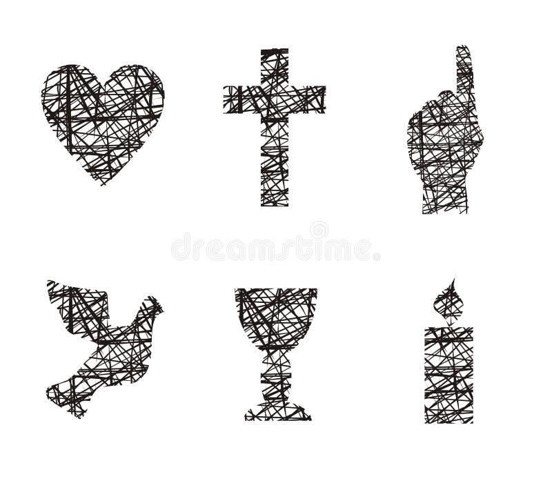 христианские символы иллюстрация штока