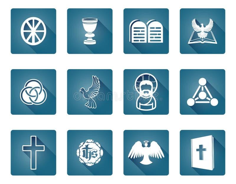 Христианские символы значка бесплатная иллюстрация