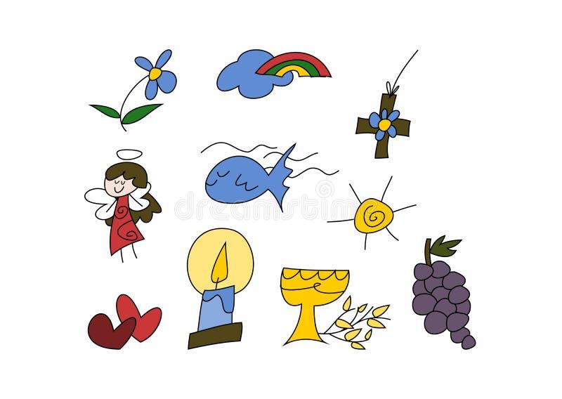 Христианские символы для малышей бесплатная иллюстрация