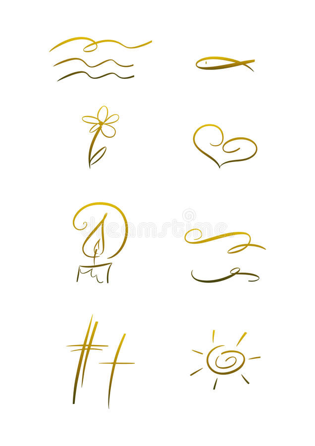 Христианский комплект символа иллюстрация вектора