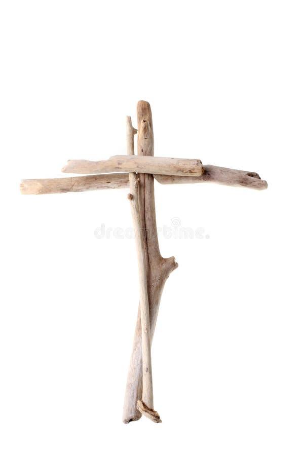 Крест сделанный от древесины смещения стоковое изображение