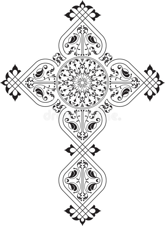 христианский крест иллюстрация штока