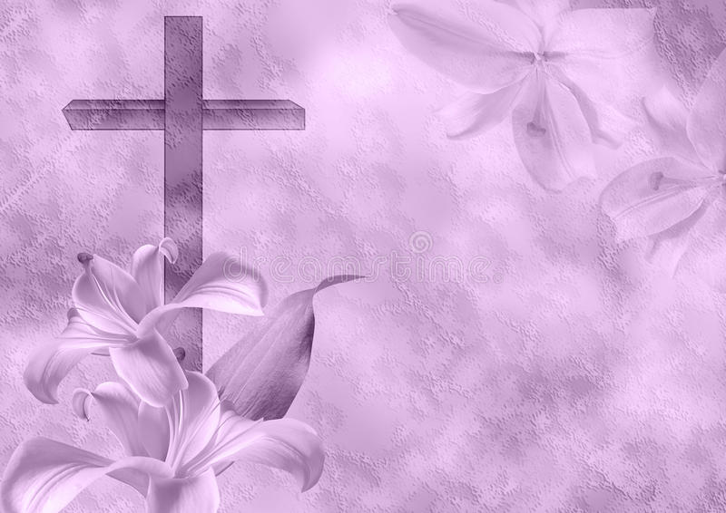 Христианский цветок креста и лилии