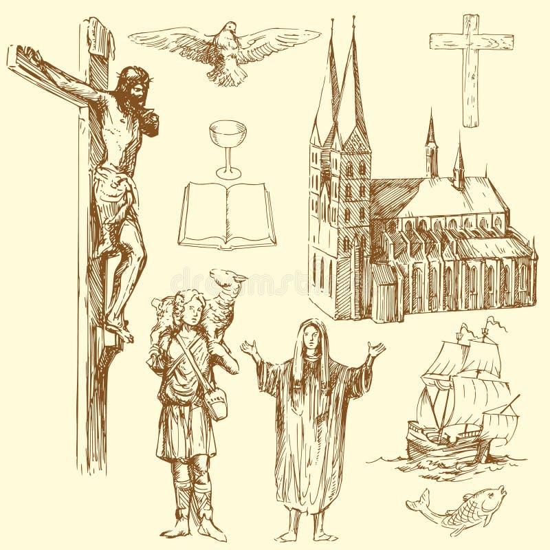 христианство иллюстрация штока