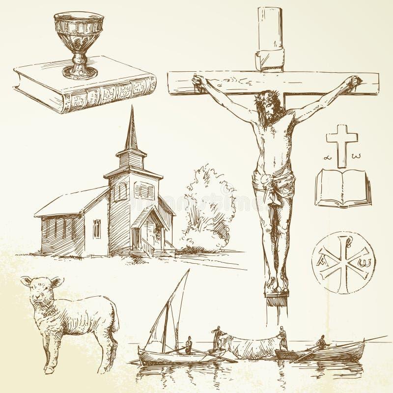 христианство jesus christ иллюстрация штока