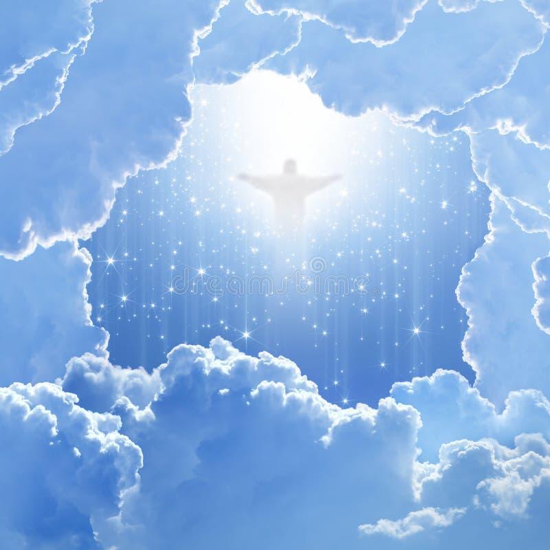 Христос в небе, пасхе стоковые изображения