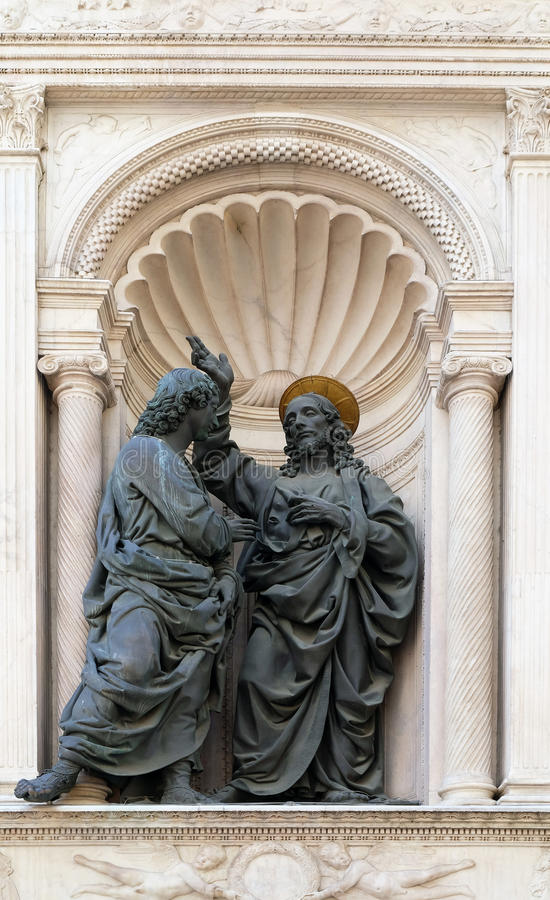 Христос и St. Thomas стоковые фото