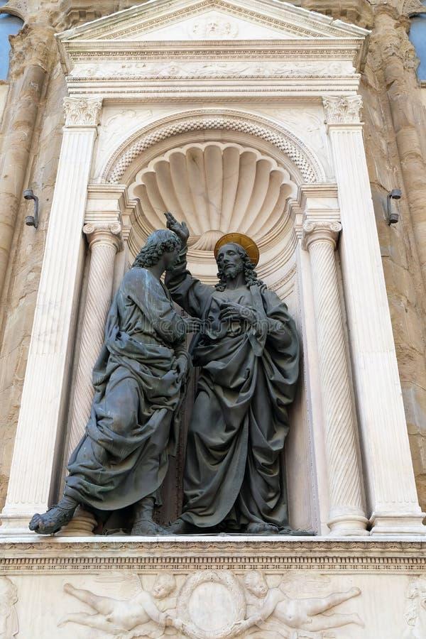 Христос и St. Thomas стоковые изображения
