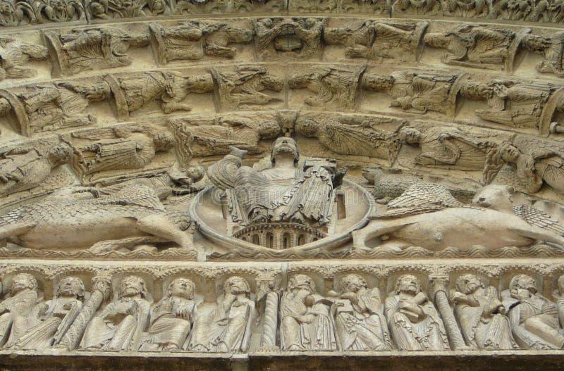 Христос на Шартр стоковое изображение