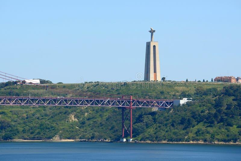 Христос статуя короля, Лиссабон, Португалия стоковая фотография rf