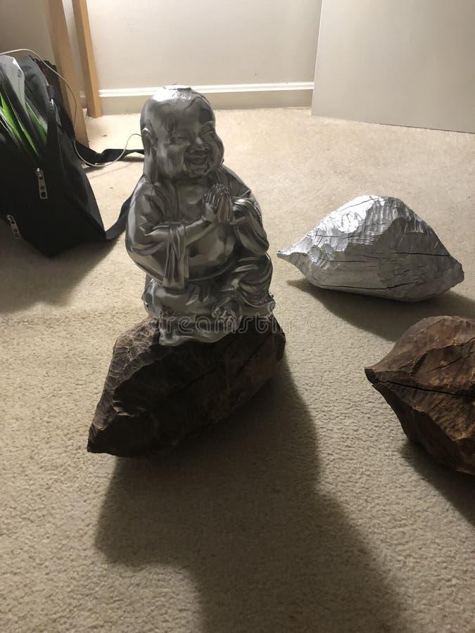 Хром Будда на beaverwood стоковые изображения rf