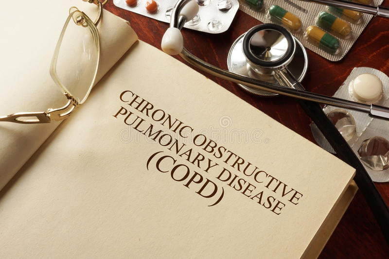 Хроническое обструктивное легочное заболевание (COPD) стоковое изображение