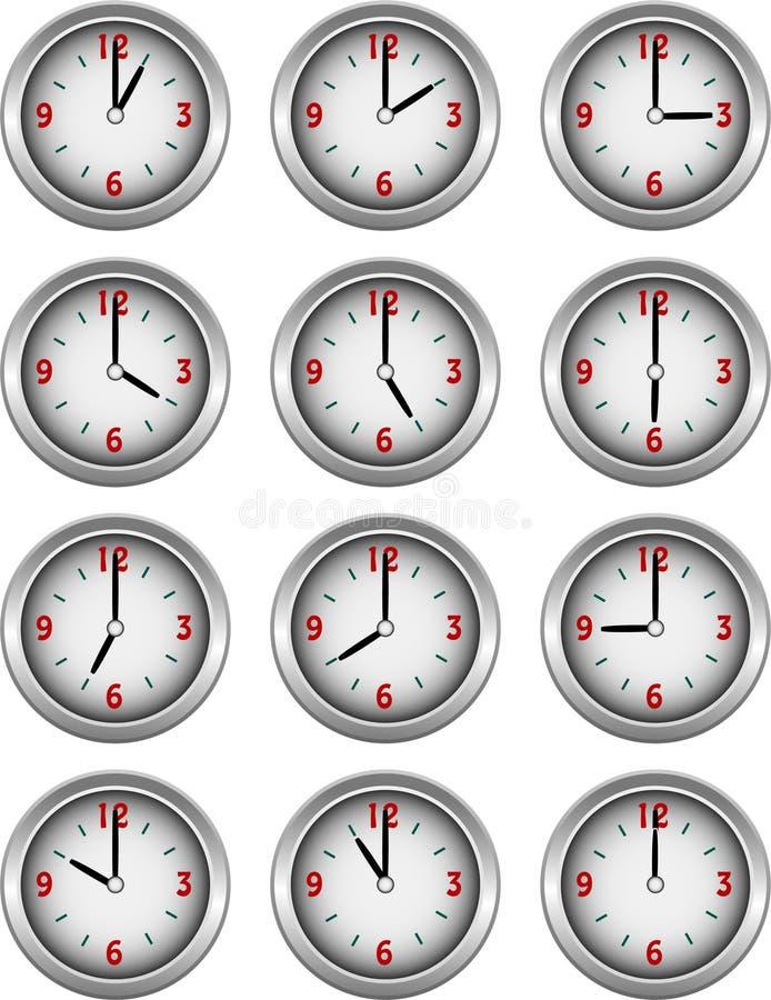 хронометрирует день собрания каждый показ часа бесплатная иллюстрация
