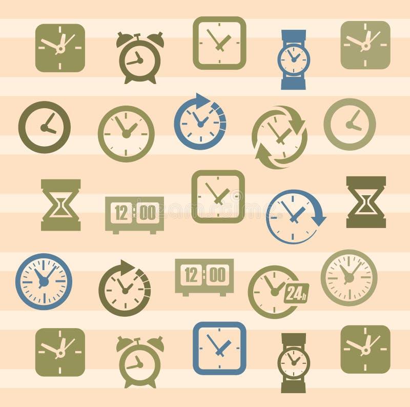 Хронометрирует иконы иллюстрация вектора