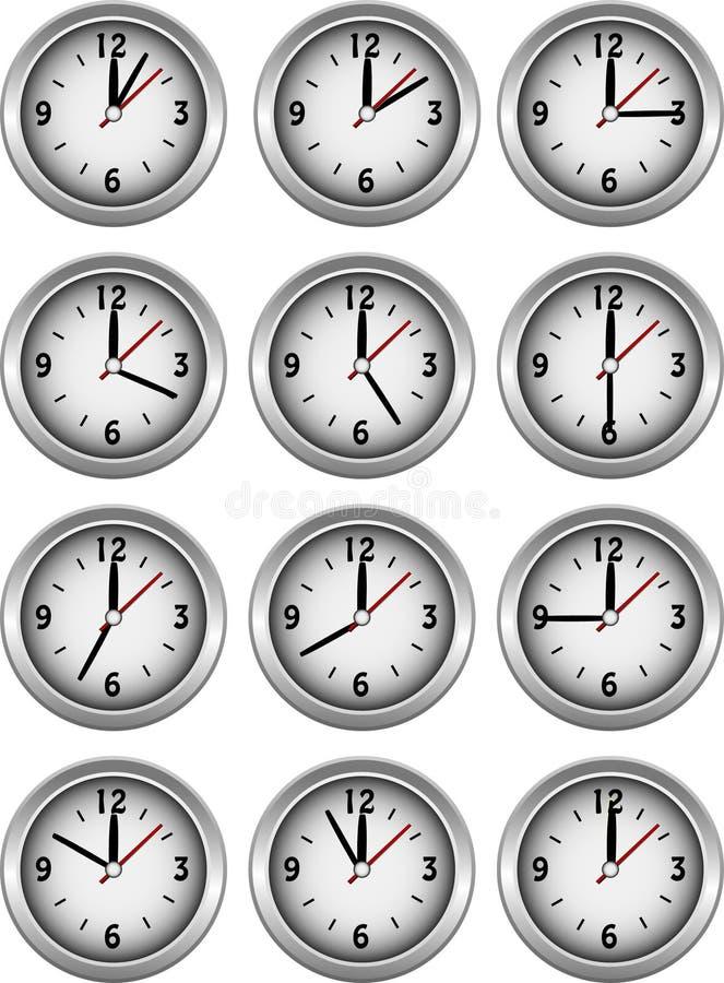 хронометрирует показ часа собрания бесплатная иллюстрация