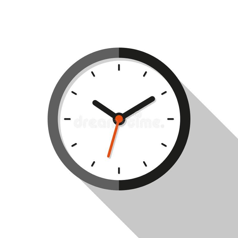 Хронометрируйте значок в плоском стиле, круглый таймер на белой предпосылке Вахта дела бесплатная иллюстрация
