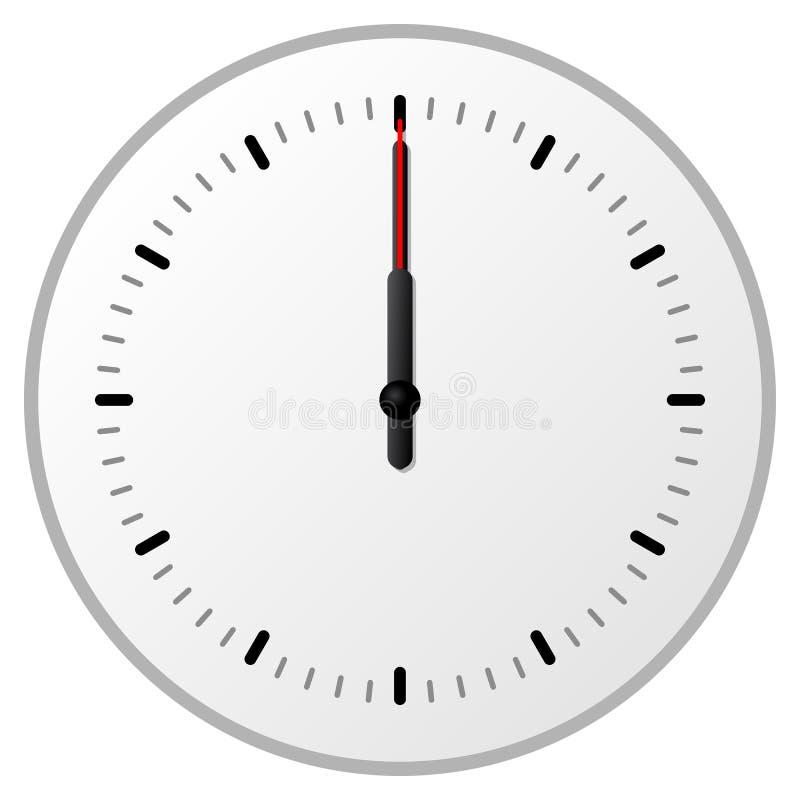 хронометрируйте полдень иллюстрация штока