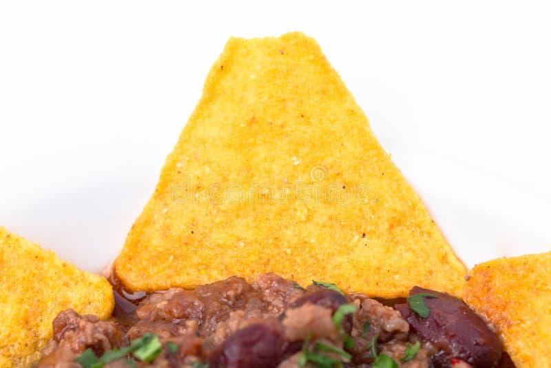 Хрустящие nachos говядины стоковые изображения