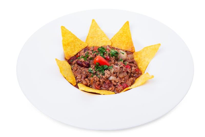Хрустящие nachos говядины стоковые изображения rf