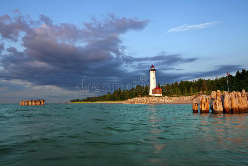 Хрустящий маяк пункта. стоковые фотографии rf