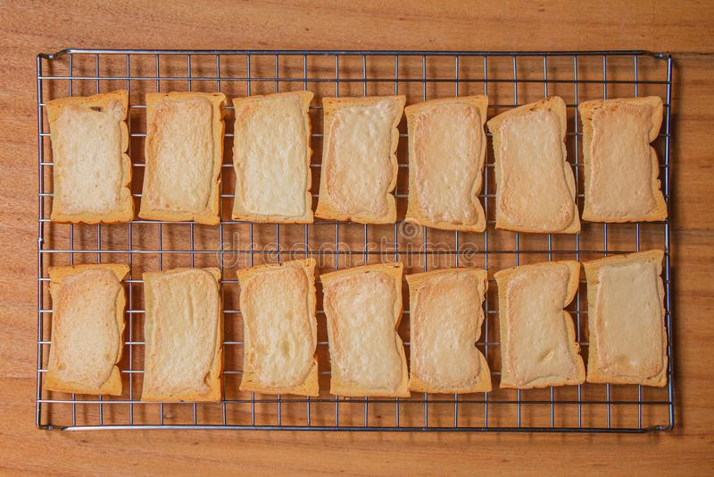 Хрустящий тост масла стоковое изображение rf