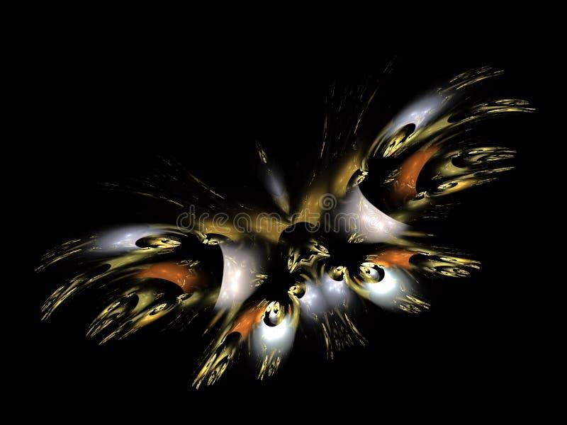 Художественная абстракция составленная форм и светов бабочки фрактали бесплатная иллюстрация